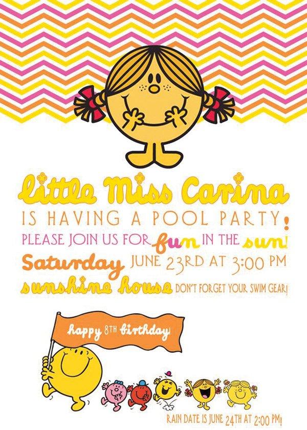 little miss sunshine birthday invitation