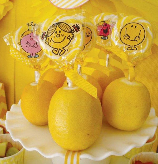little miss sunshine lemon lollipops