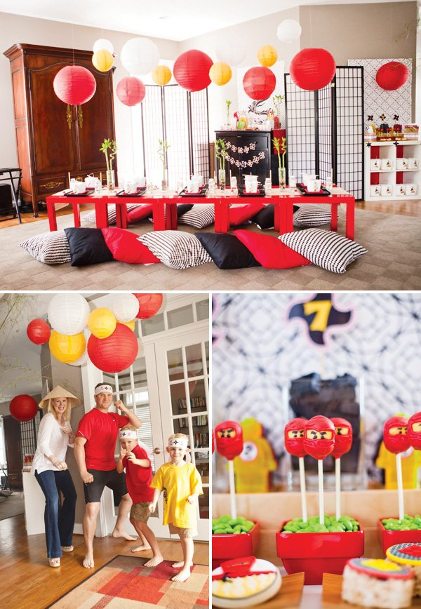 Modern Ninjago Style Ninja Birthday Party Hostess