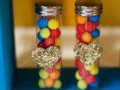retro rainbow candy party favors