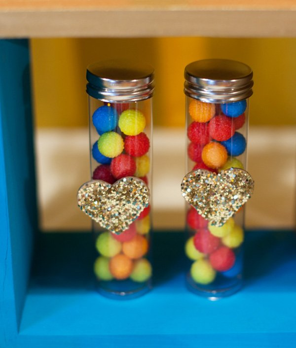 party favors glitter hearts