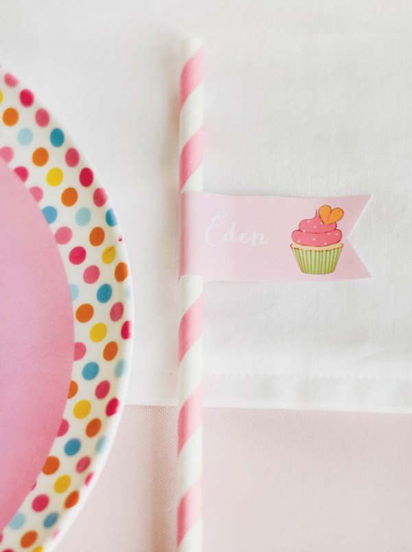 cupcake party flag