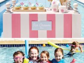 pink flamingo pool party ideas