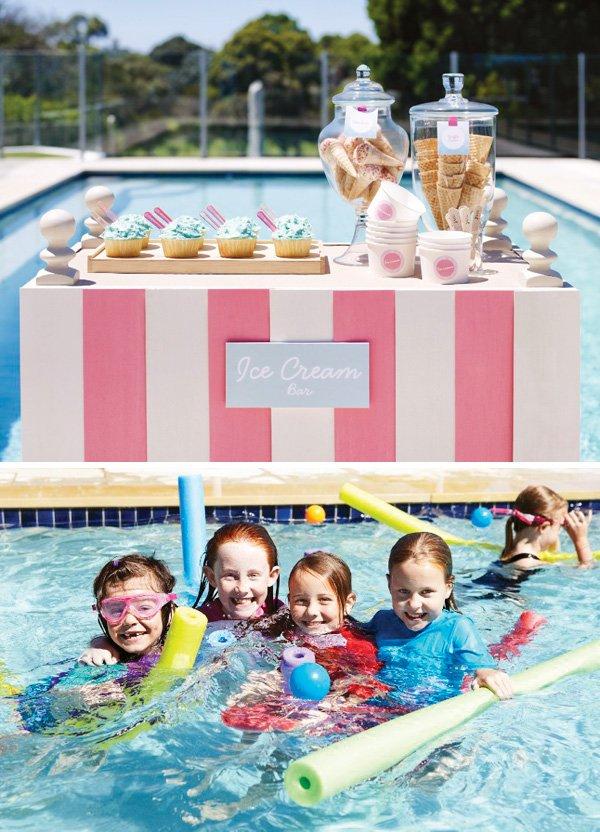pink flamingo pool party ideas
