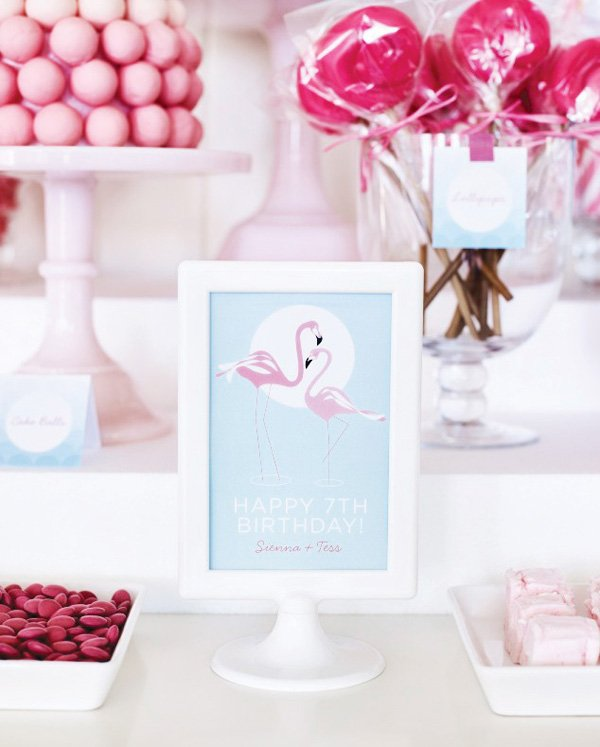 pink flamingo printables