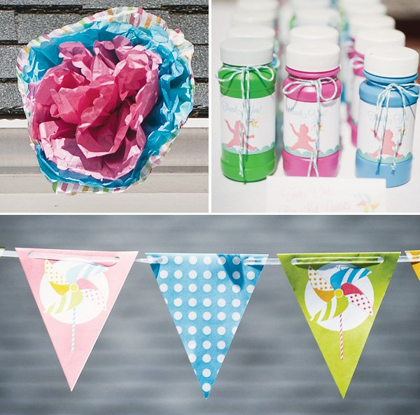 pinwheel party bunting