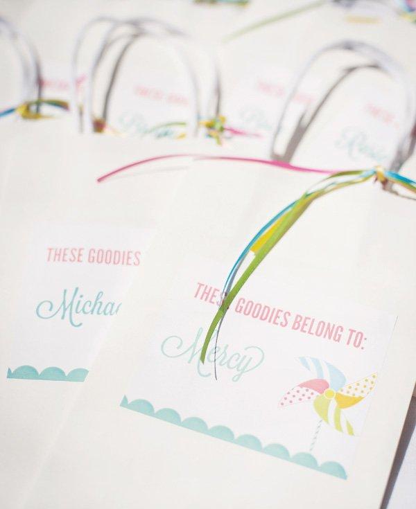 pinwheel party favor bags