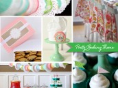 pretty baking party theme