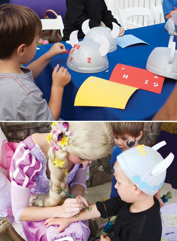 princess party boy activity