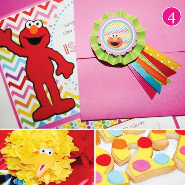 rainbow elmo birthday party