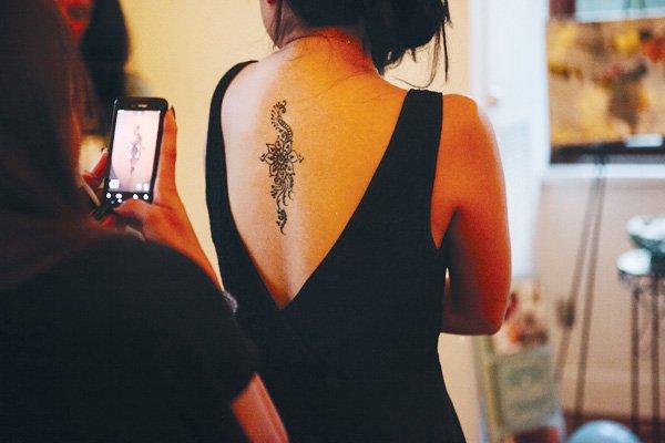 something blue bridal event henna tattoo