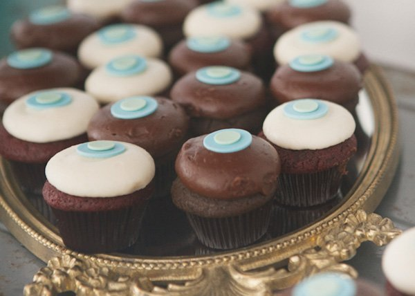 something blue bridal event with sprinkles cupcakes
