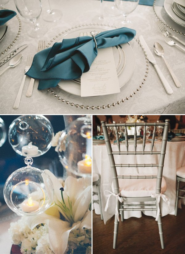 something blue bridal event table setting