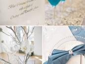something blue wedding theme centerpiece