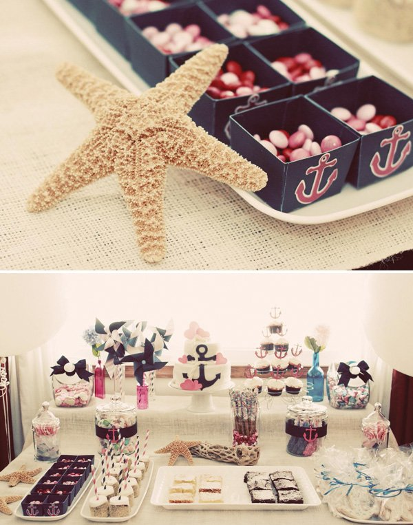 nautical themed dessert bar