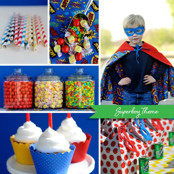 superhero party theme - superboy