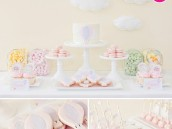 vintage hot air balloon dessert table