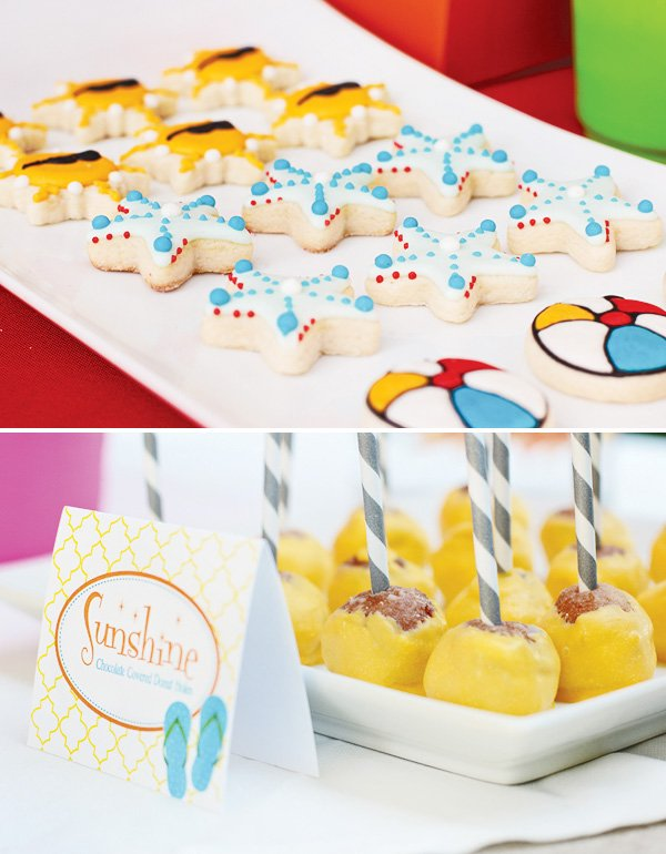 welcome summer party beach ball cookies