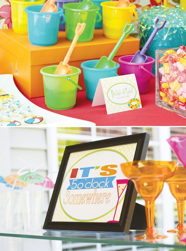welcome summer party buckets