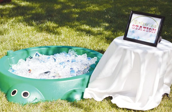welcome summer party hydration station