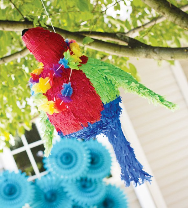 welcome summer party parrot piñata