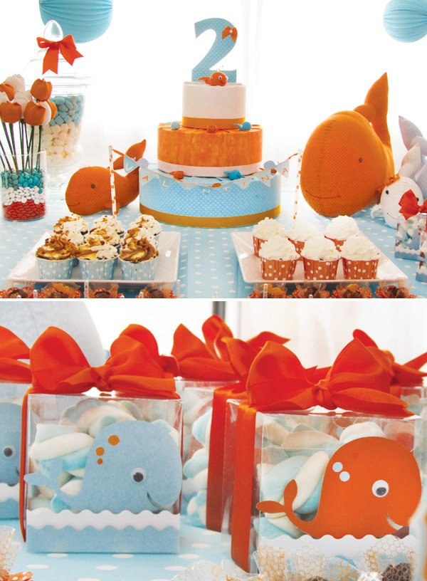 whale party cake