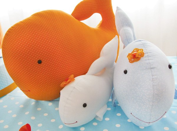 whale party plush whales