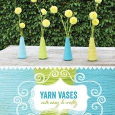 yarn wrapped base diy tutorial