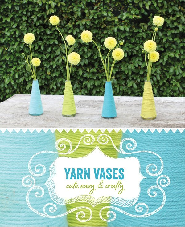 yarn wrapped base diy tutorial