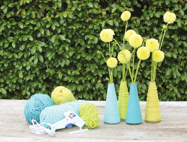 yarn wrapped vase supplies
