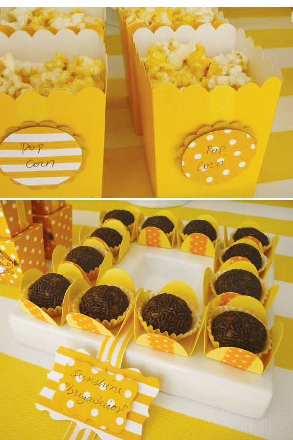 yellow party desserts