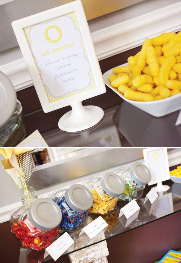 yellow party food labels and printables