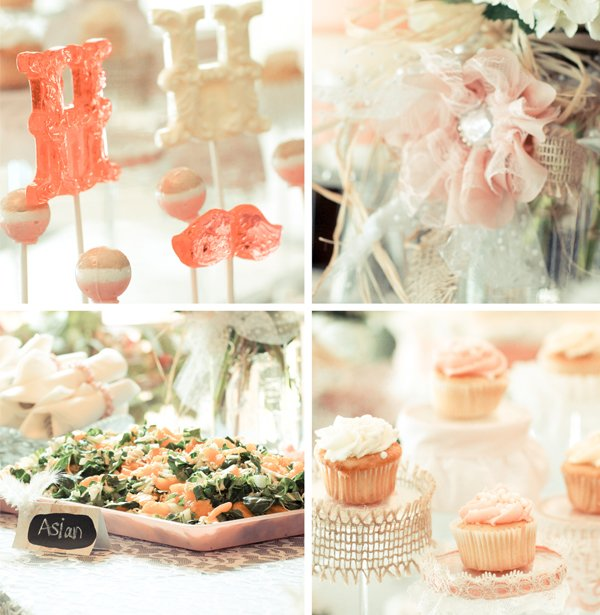 Bridal Shower Dessert & Savory Tables