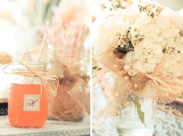 Floral Arrangements and Beverages