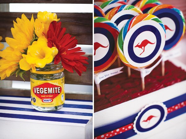 Patriotic red white blue aussie party hostess for Australia day decoration