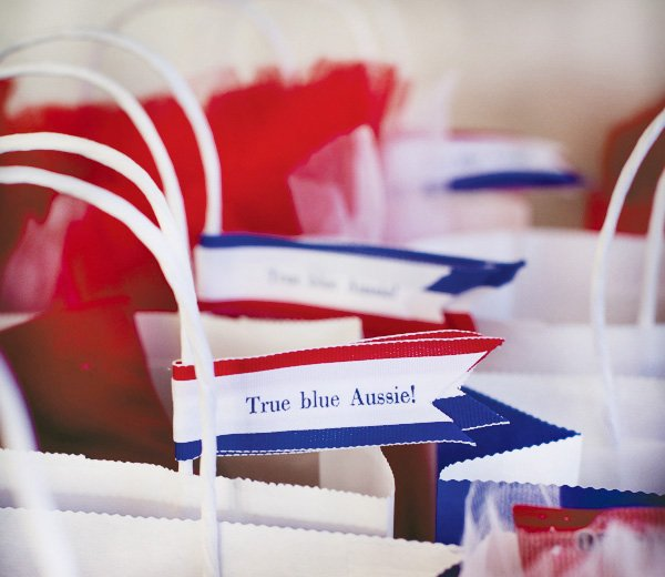 aussie party favor tags