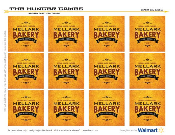 hunger games printables - mellark bakery