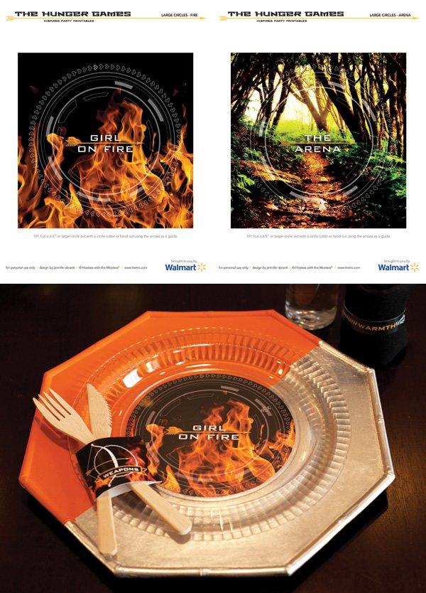 Free Hunger Games Printables - Plate Circles