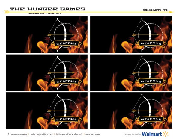 the hunger games girl on fire printables