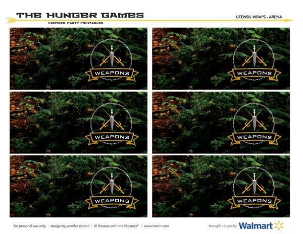 the hunger games party free printables