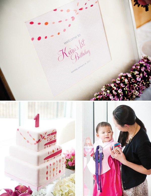 Korean first birthday