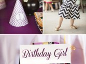 Missoni chevron first birthday