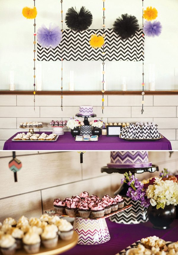 Missoni chevron party desserts