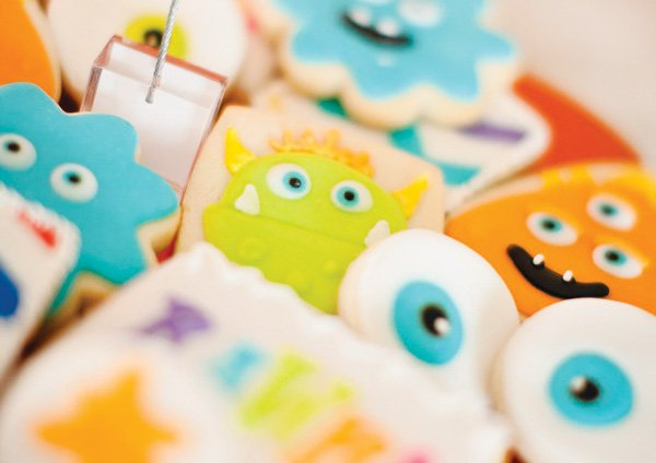 monster birthday cookies