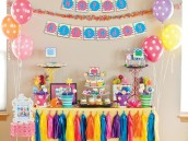 monster birthday table decor