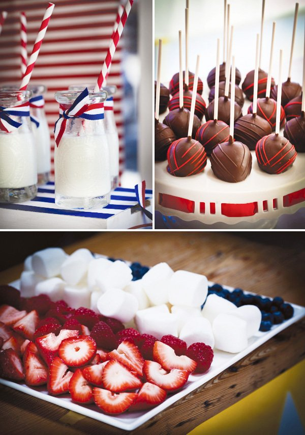 Patriotic red white blue aussie party hostess - Red white and blue party ideas ...