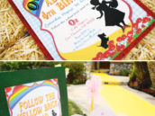 rainbow Wizard of Oz invitation