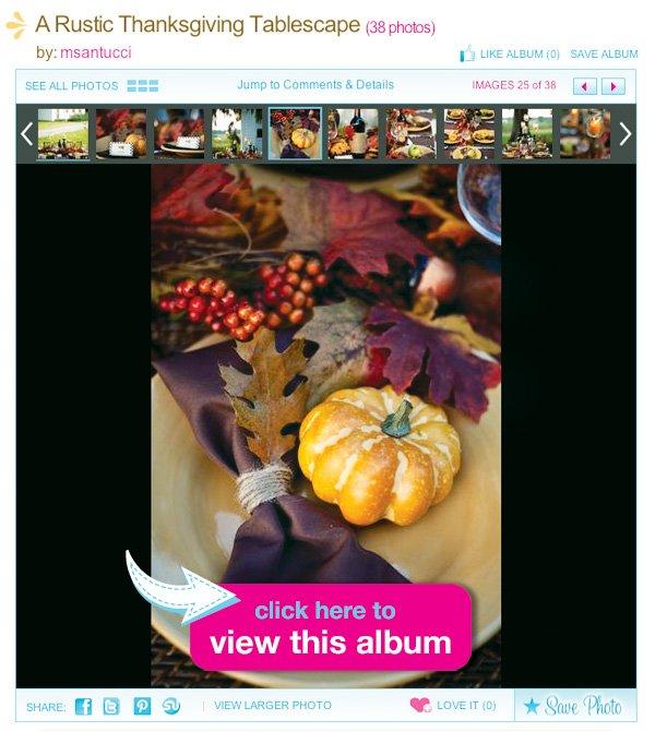 Rustic Thanksgiving Album