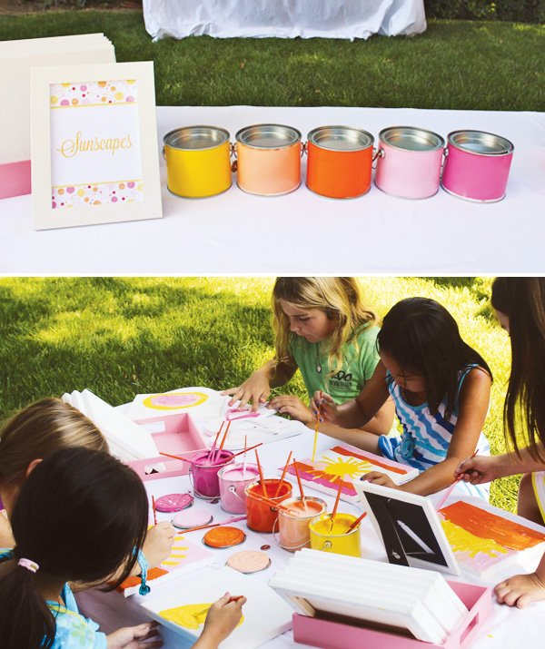 sunshine paint party activity