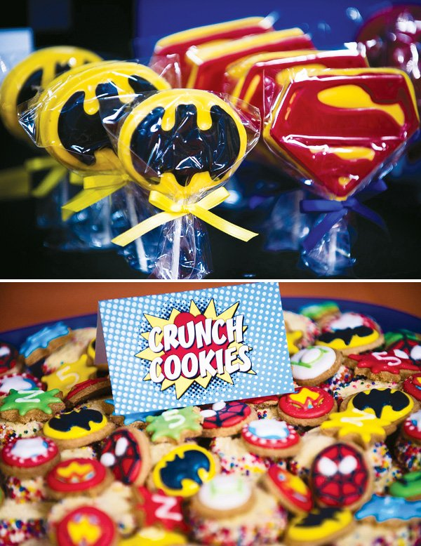 batman and superman desserts